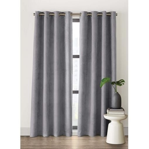2-Pack 'Avery' Faux Suede Blackout Grommet Panels - Curtain