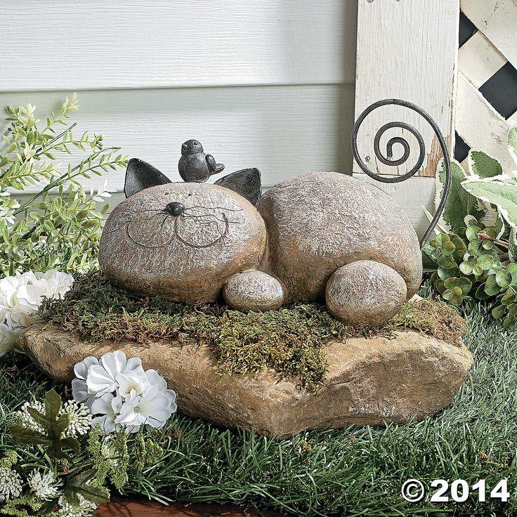 Resting+Cat+Stone+-+TerrysVillage.com