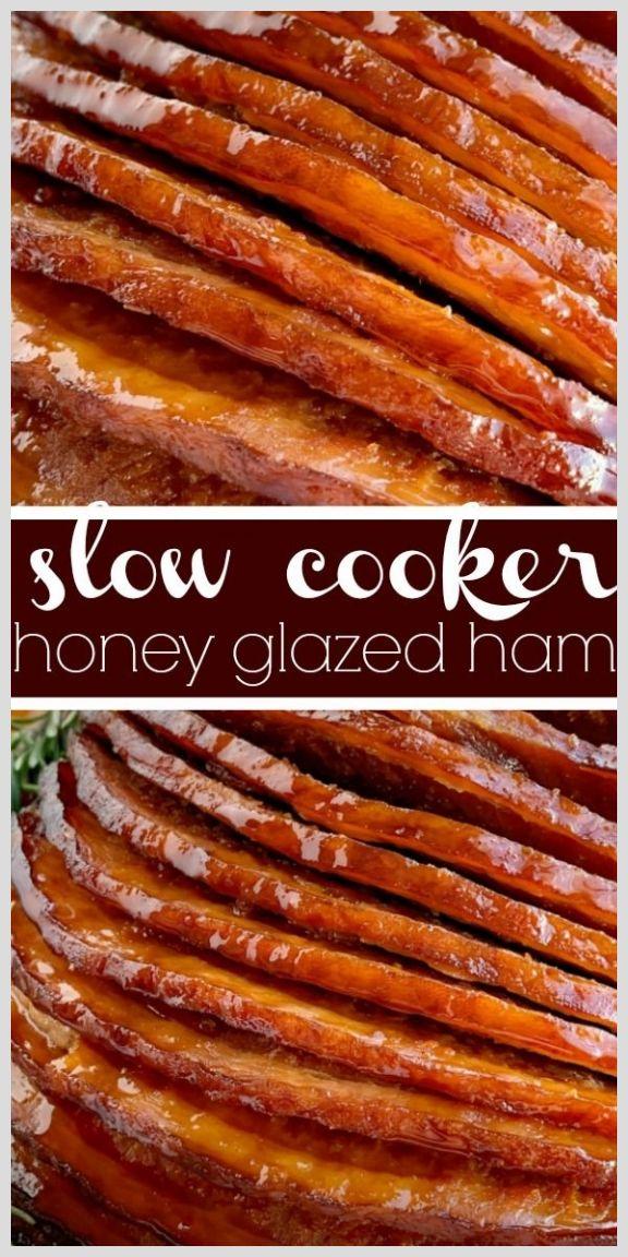 Crock Pot Recipes 14434 Slow Cooker Honey Glazed Ham Ham Recipe Boneless Ham Crock Pot Ham Recipe Honey In 2020 Honey Glazed Ham Ham Glaze Ham Recipes Crockpot