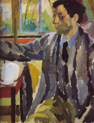 Duncan Grant Painting, Vanessa Bell, c. 1920.