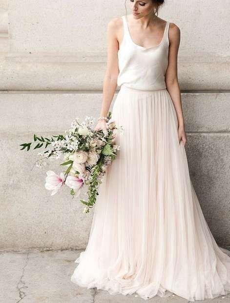 Tendencias de boda 2017: Vestidos de novia de dos piezas [FOTOS] - Vestido de novia dos piezas en dos tonalidades