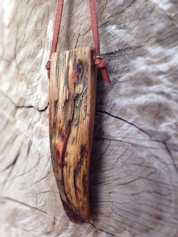 Wood Pendant Handmade Eucalyptus Australian Art by EarthBoundTribe