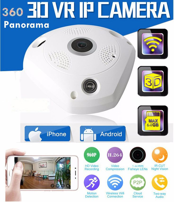 >> Click to Buy <<  360 Degree Panoramic IP Camera Fisheye WIFI CCTV Cam PTZ 3D VR Video P2P 720P  Audio For Home Ofiice Security Remotely Monitori #Affiliate
