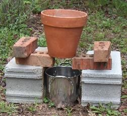 Making lye the old fashioned way. (Along with a soap recipe to use it in.): Flower Pot, Soap Recipes, Brick, Hardwood Ash, Lye Soap Recipe, Homestead