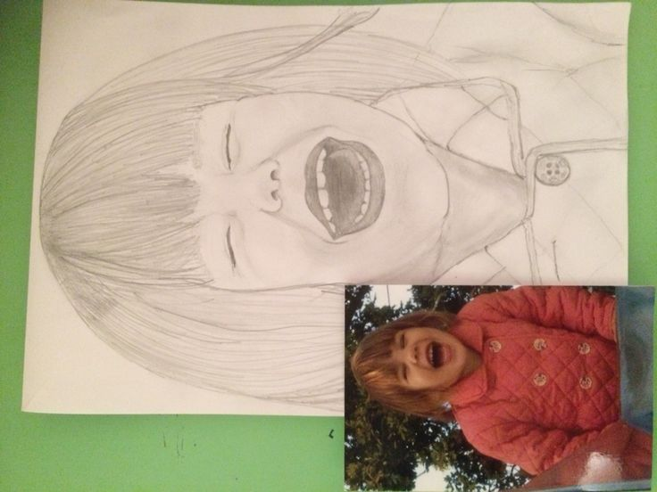 My drawing of my daughter