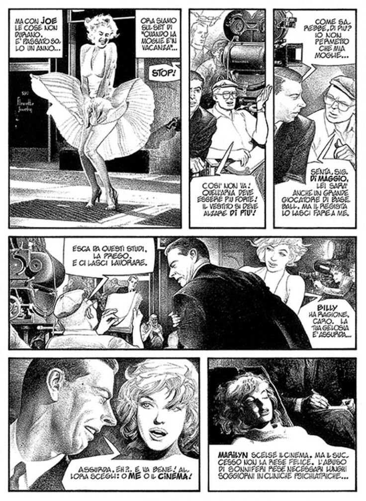 Gianni De Luca (Italy 1927) - Marilyn Monroe - 1982 - biography sample page