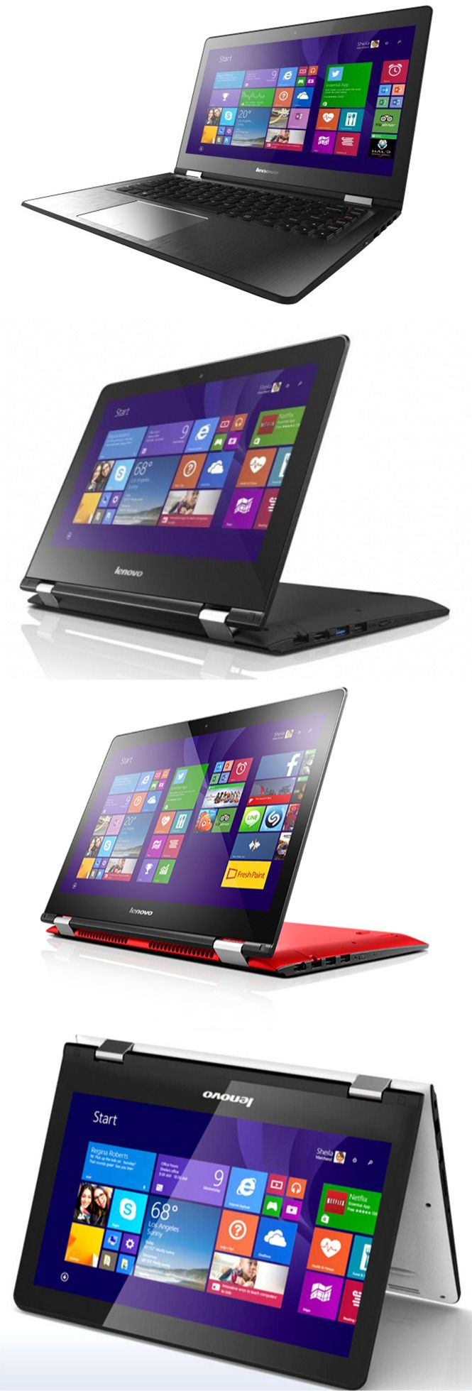 Lenovo Stretched Yoga Series with Yoga 300 and 500 #lenovo #laptop
