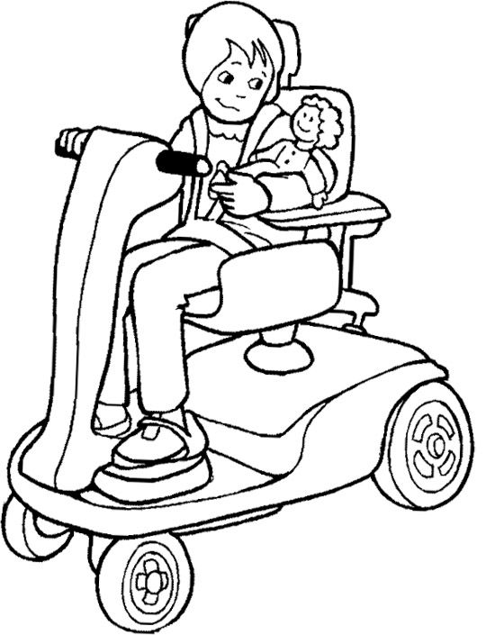 The Girl Disabilities Coloring Page