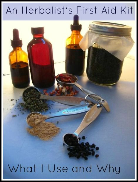 What is in a herbalist first aid kit? Simple & practical items! | via www.TheSurvivalMom.com