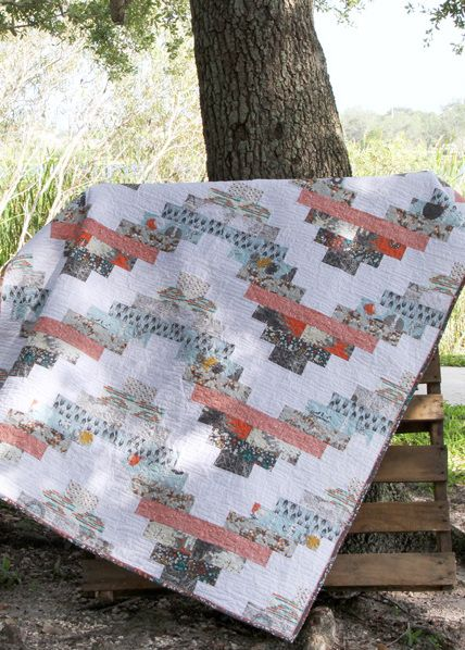 You can now get the Katarina Roccella - Stamped Quilt Kit! Cozy and picnic inviting! #ArtGalleryFabrics #Sew #Stitch #Thread #Kit #DIY #Design #Craft #HowTo #Makeit #Quilt #Fashion