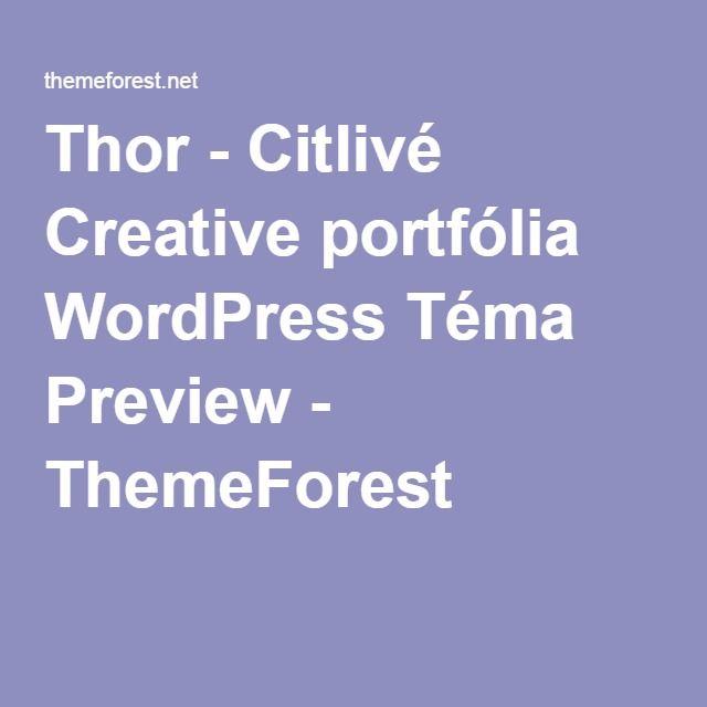 Thor - Citlivé Creative portfólia WordPress Téma Preview - ThemeForest