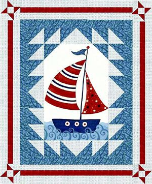 Nautical and Nice Quilt Pattern SALE 30% OFF- WAS £7.50
