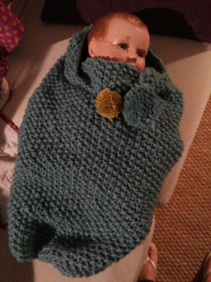 Babycaldo Blé créé par les Sisters in Wool, notre version du sac d'emmaillotage.