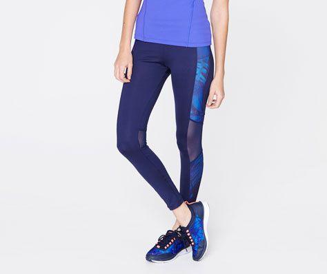 Tulle and tropical print leggings - OYSHO