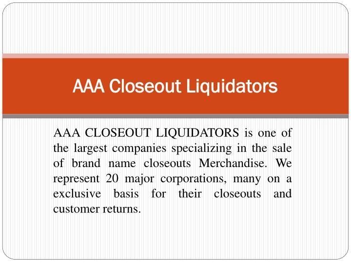 One of the largest toy liquidators is AAA Closeout Liquidators, a trusted and well known closeout buyer. Manufacturers, importers and retailers having large quantity of excess wholesale toys, assorted toy closeouts or education toys closeouts, often contact toy wholesale distributors or a wholesale toy liquidator.