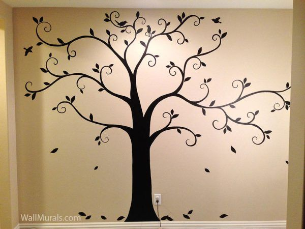 25+ Collection Painting A Tree Mural (With images) | Tree wall ...