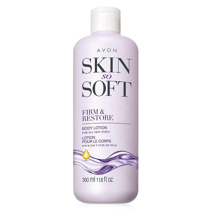 Skin So Soft Firm & Restore Body Lotion. The Skin So Soft Firm & Restore Body Lotion will transform your skin to feel firmer and younger. This moisturizing formula with babassu oil rejuvenates skin's radiance and vitality. After just one week of use, skin looks and feels firmer and more toned.