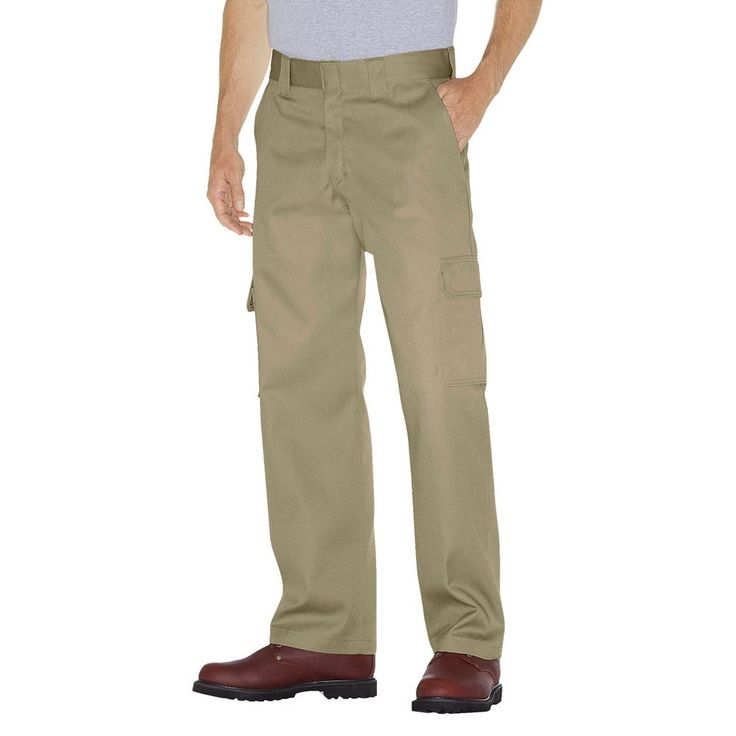 Dickies Men's Relaxed Straight Fit Twill Cargo Work Pant- Desert Sand 36x34