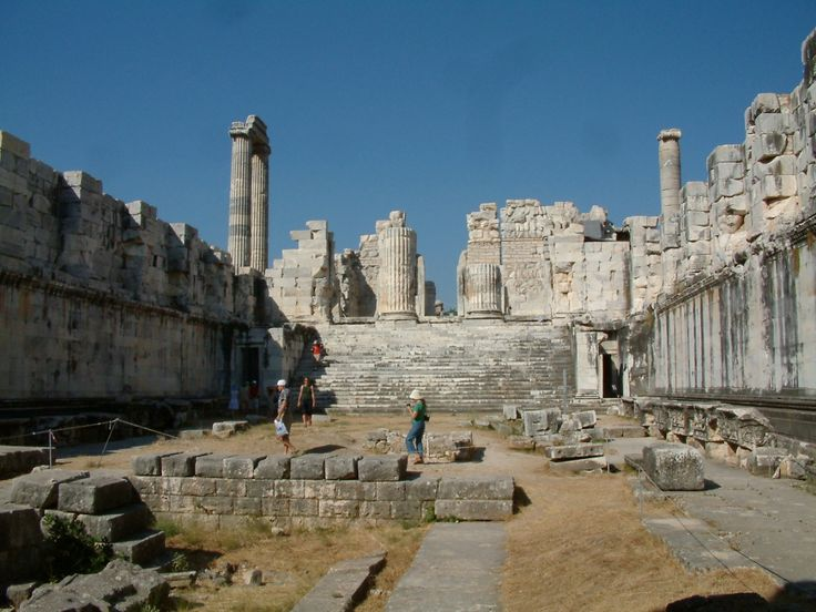 hellenistic  temple of apollo at didyma  turkey  an old