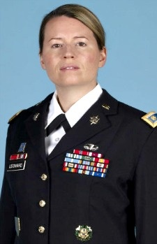 Army MAJ. Jaimie E. Leonard, 39, of Warrick, New York. Died June 8, 2013, serving during Operation Enduring Freedom. Assigned to Headquarters and Headquarters Company, 2nd Brigade Combat Team, 10th Mountain Division, Fort Drum, New York. Died in Sharana, Paktika Province, Afghanistan, of injuries suffered from small arms fire received at Zarghun Shahr District, Afghanistan, when an Afghani soldier in a group she was training turned his weapon on her.