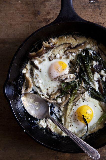 Spring Baked Eggs / photo by Nicole Franzen Photo