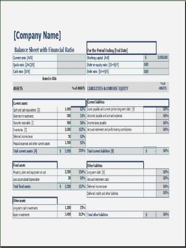 30 Pro Forma Balance Sheet Template In 2020 Balance Sheet