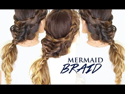 Mermaid BRAIDS in BRAID Tutorial | Cute Fall Hairstyles - YouTube