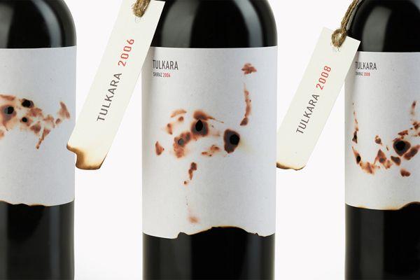 Australian shiraz wine label - Tulkara