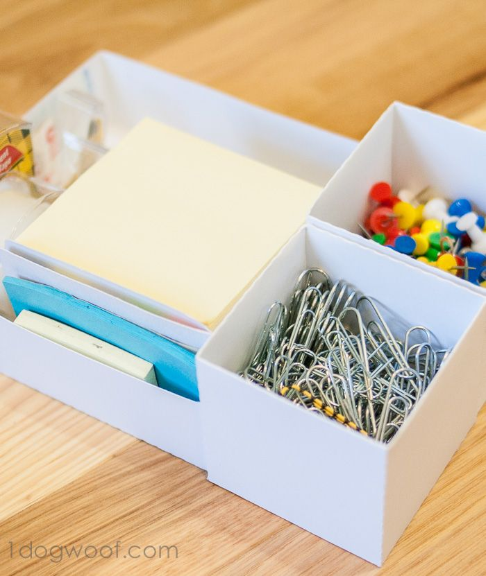 Creating Custom Boxes for Organization - Do you have a junk drawer? My home is filled with little knick knacks that I want to organize and drawers in which to p…