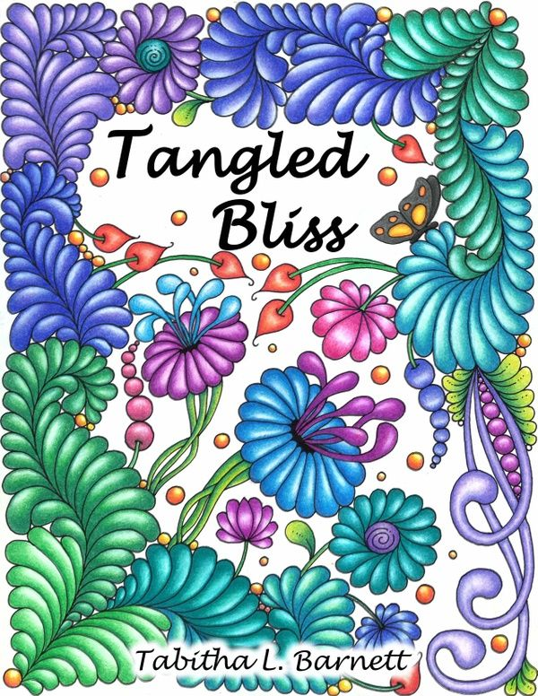 Tangled Bliss Adult Coloring Book PDF Format