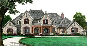 European French Country House Plan 66267 Elevation