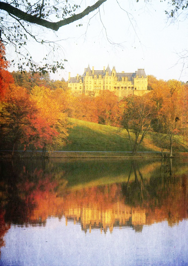 Biltmore House | Asheville, North Carolina | The Vanderbilt Estate.... Lake Lagoon, ====many memories surrounding this lake, from fishing to Horseback riding, to reading books....Magical Autumn