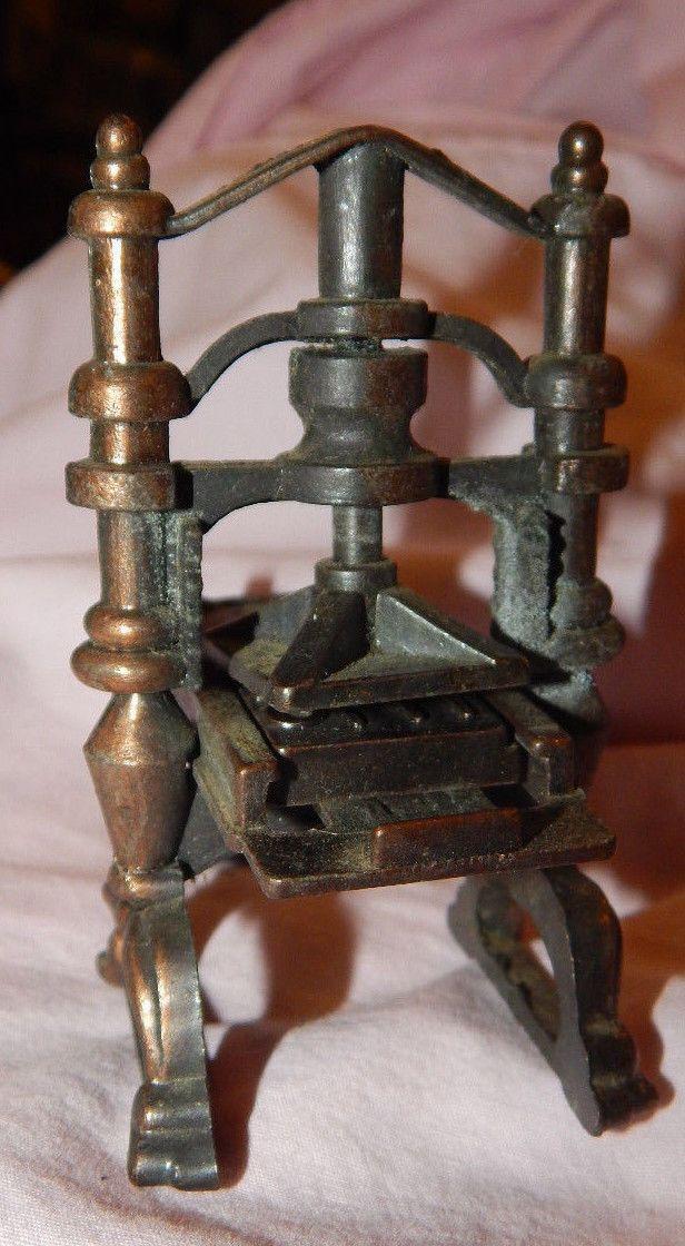 """Vintage"" Miniature 70's Durham Die-cast Printing Press | eBay"