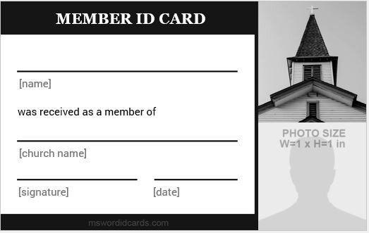Church Membership Card Template New 5 Best Church Id Card Templates For Ms Word Card Template Membership Card Id Card Template