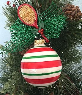 Tennis Christmas Ornaments