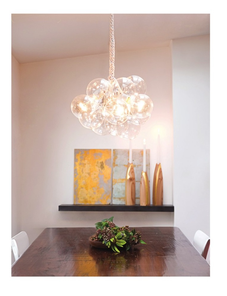 Glass Bubble Chandelier - Glass bubbles from CB2 + a little tutorial on putting it all together. Simpler user-friendly tutorial available at mintlovesocialclu....:
