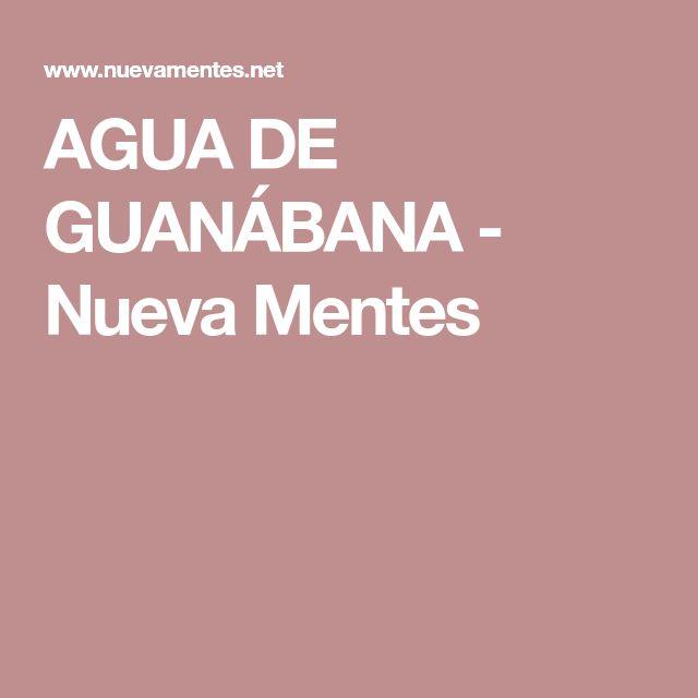 AGUA DE GUANÁBANA - Nueva Mentes