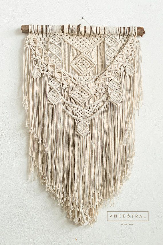 Elena colgante de pared de macrame tapiz macrame - Colgantes de macrame ...