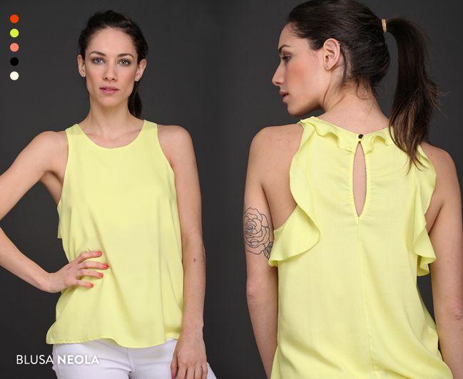 La Blusa Neola es tendencia de temporada: colores pasteles, volados y suave caída. ¡Pedila!