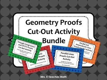 Geometry Proofs Cut-Out Activity Bundle