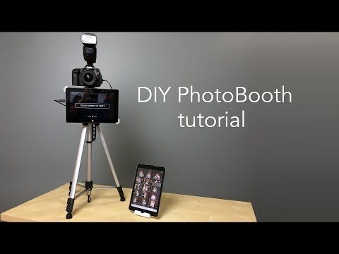 How to build a DIY cardboard photo booth with iPad kiosk and wireless printing - YouTube