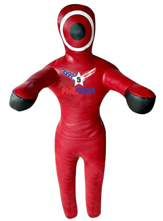 Five-Stars Red/Black Brazilian Jiu Jitsu MMA Synthetic Leather Grappling Dummy…