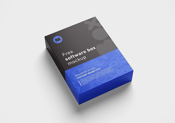 Download Free Software Box Mockup Box Mockup Mockup Design Box Software