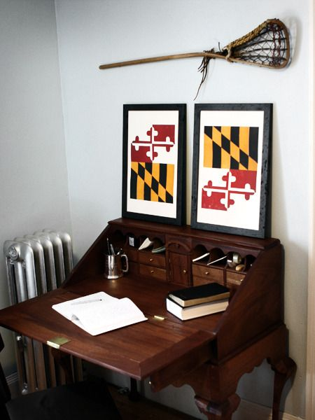 The Old Line State - MD, Maryland - Old Try - Letterpress Print