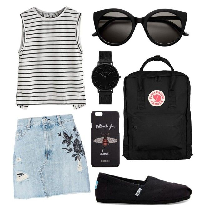"""Untitled #16"" by szlzsnb on Polyvore featuring rag & bone, TOMS, Fjällräven, Gucci and CLUSE"