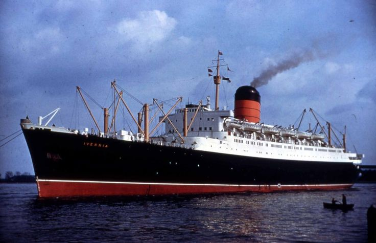 RMS Ivernia was a Saxonia class ocean liner, built in 1955 by John Brown & Company in Clydebank, Scotland for Cunard Line, for their transatlantic passenger service between the UK and Canada. In 1963 she was rebuilt as a cruise ship and renamed RMS Franconia, after the famous pre-war liner RMS Franconia. She continued to sail for Cunard until being withdrawn from service and laid up in 1971.