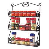 Found it at Wayfair - Scroll Wall Mount Spice Rack in Black