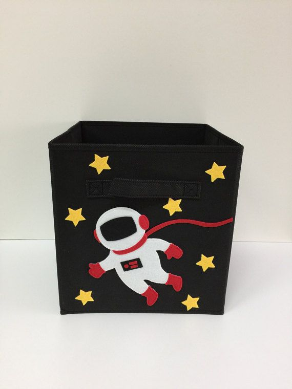Outer Space Cube Storage Bin Astronaut Bin by SewFreakinAwesome, Outer Space Nursery, Outer Space Décor, Kids Storage, Nursery Storage, Fabric Cube, Kids Decor