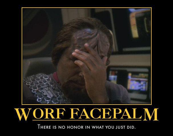 Worf facepalm