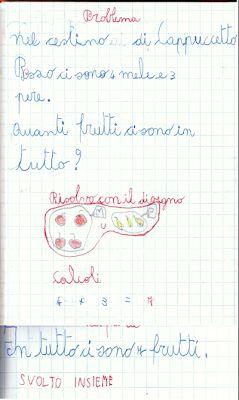 didattica matematica scuola primaria: Primi problemi - classe prima